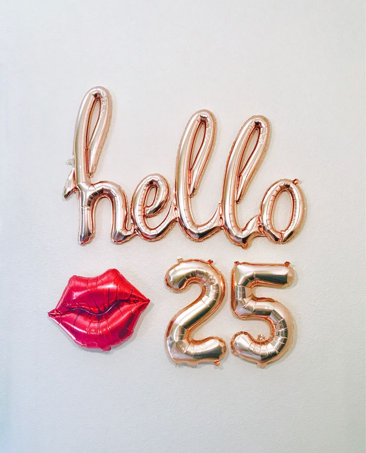 Rose Gold Hello 25 Hello 25 25th Birthday 25 Years Rose