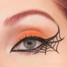 Pin for Later: 25 Spiderweb-Themed Makeup Ideas That Will Turn Heads on Hallowee...