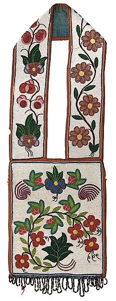 bandolier bags for auction | Chippewa Beaded Bandolier Bag, - Cowan's Auctio...