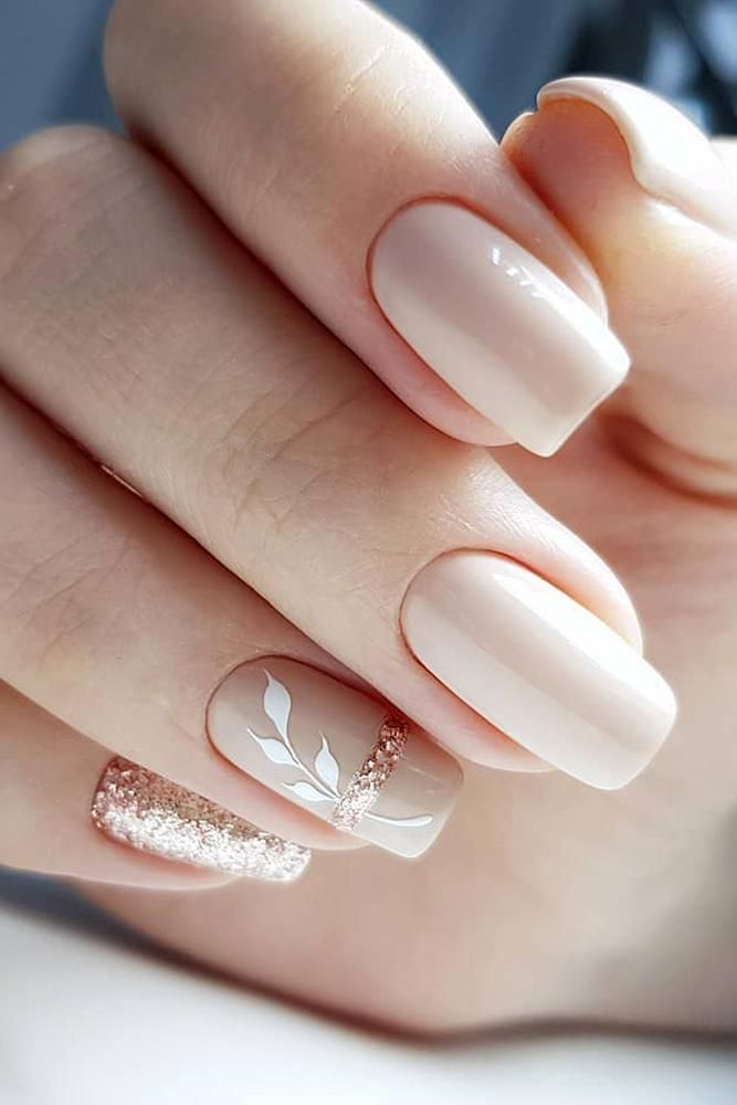 30 fun nail design ideas for stylish brides ❤ nail design wedding nude beige ...
