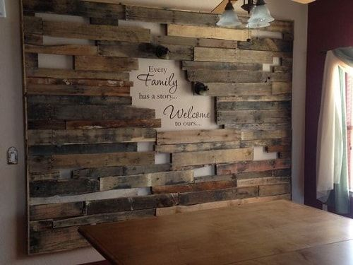 20 Most Unique Wooden Pallet Wall Decoration for Living Room #wood Pallet #unique ...
