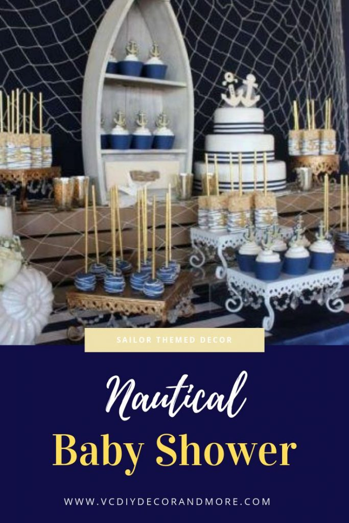 Nautical baby shower theme and decorations ideas for girls, for boys, and gender...