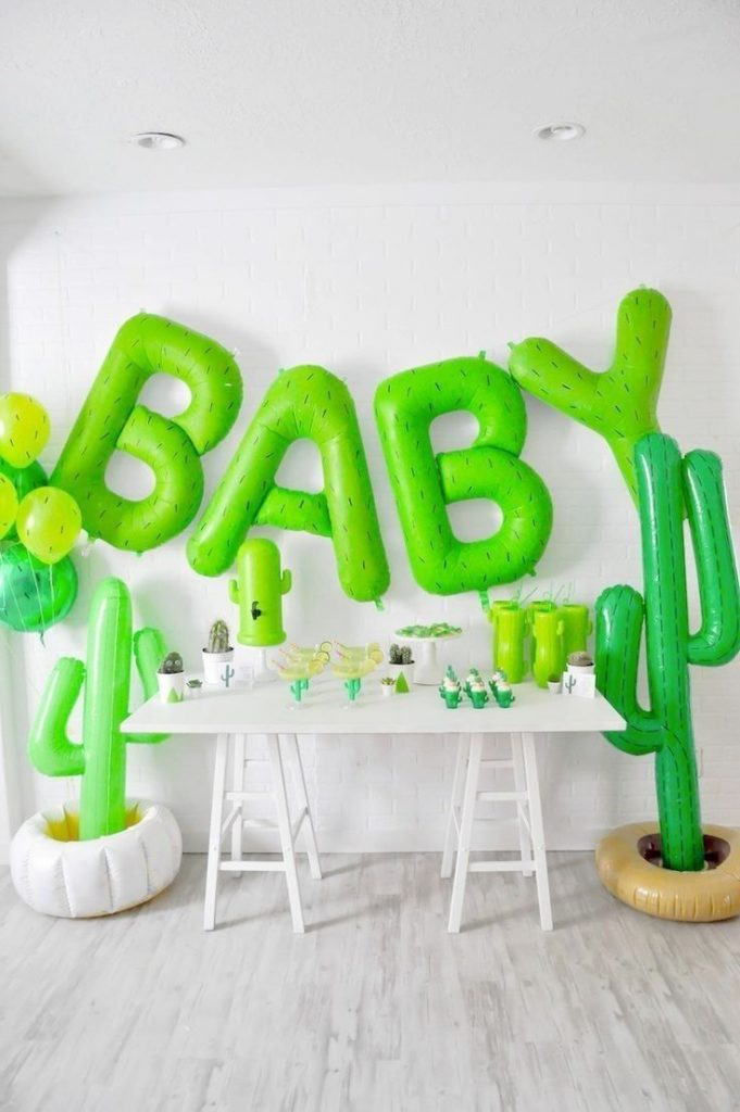 cactus themed desert bloom baby shower by kara allen kara's party ideas for ...