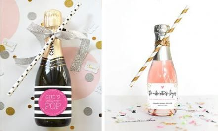 Baby shower favors for guests champagne 33 trendy ideas