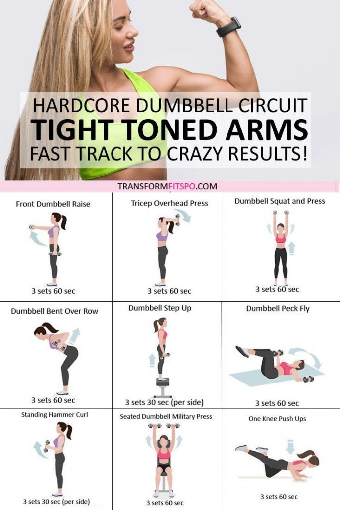💪🏼 Tone and Tighten Your Arms! Dumbbell Progressive Circuit to Get CRAZY R...