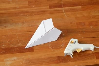 Paper Airplane Garland for Travel Themed Baby Shower