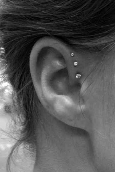 18 Beautiful and Unusual Ear Piercings - #From #Unusual #Cute #Ear #pi ...