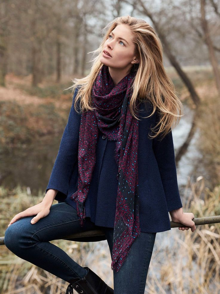 Doutzen Kroes for REPEAT cashmere   Merino wool A-line cardigan by @REPEATcashme...