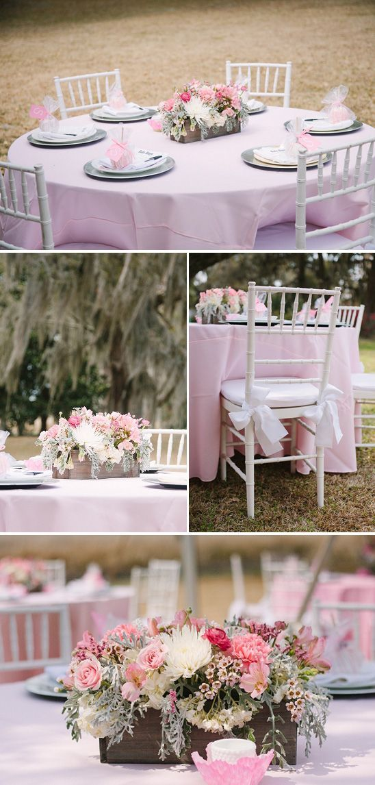 Outdoor Baby Shower Venues | Beautiful Southern Baby Shower in Pink   - Bundle o...