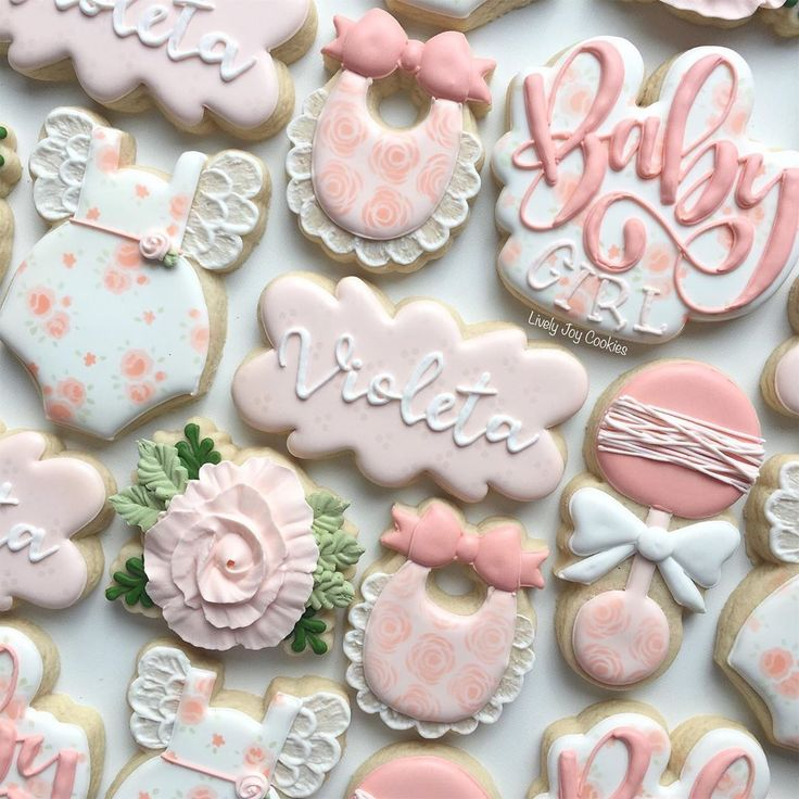 "Lively Joy Cookies & Co. on Instagram: ""Floral baby shower cookies! 🌺  Cook..."