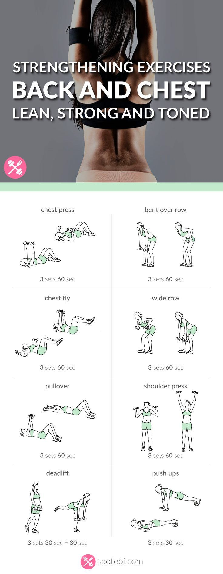 Lift your breasts naturally! Try these chest and back strengthening exercises fo...