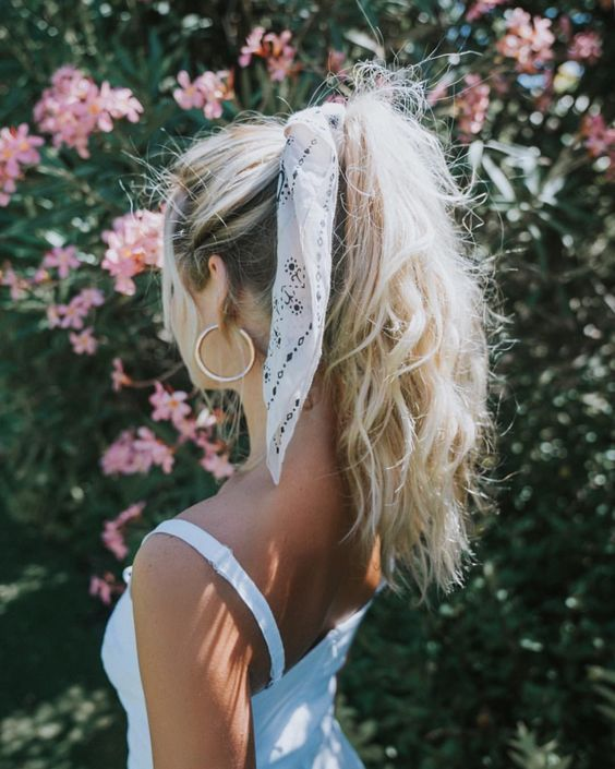 How to style bows in your hair with scarf How to style bows in your hair ...