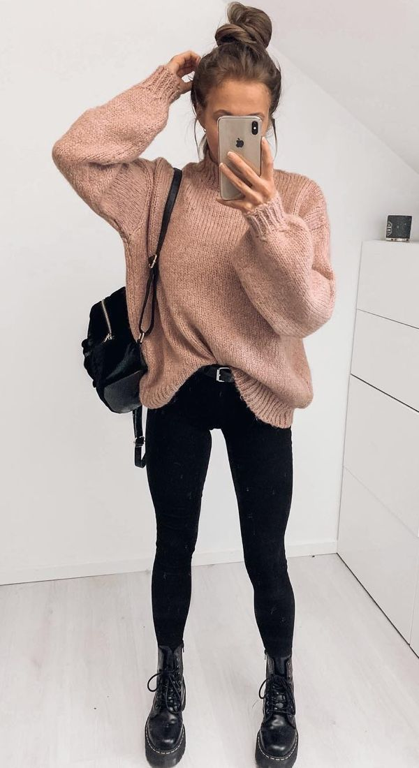 18 Cute Fall Outfits To Get You In The Sweater Weather Mood - - #Cute #Fall #Moo...