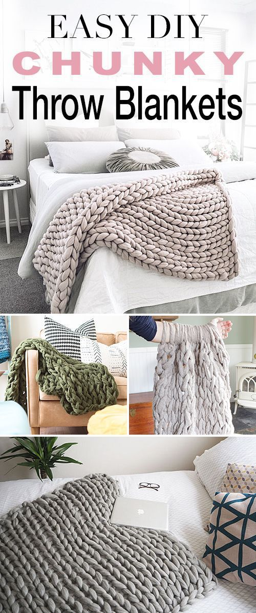 Easy DIY Chunky Throw Blankets! • See how affordable and easy these are to mak...