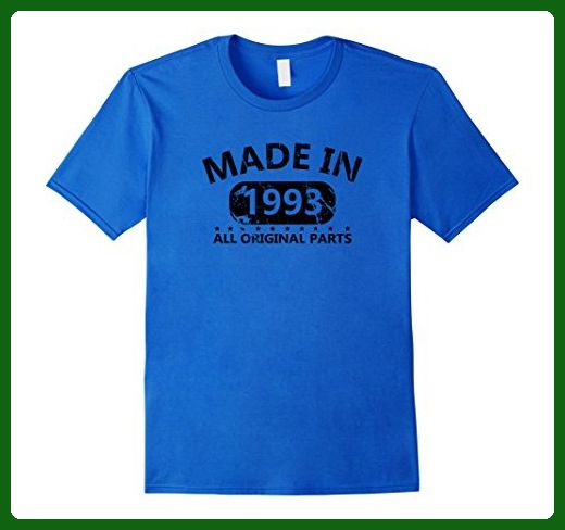 Mens 24th Birthday Made 1993 Vintage Funny T-shirt Gift Quote Tee 2XL Royal Blue...
