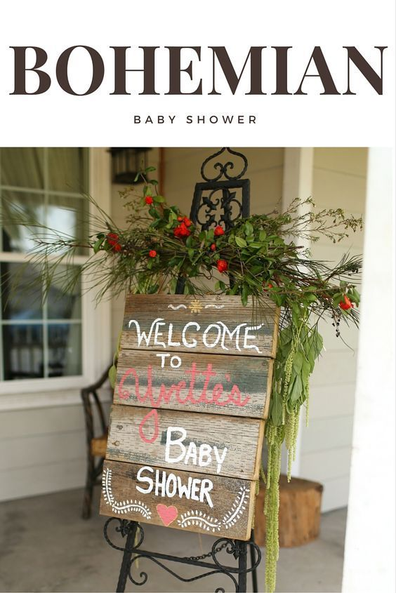 Bohemian Baby Shower - Welcome Sign #rusticbabyshowerideas