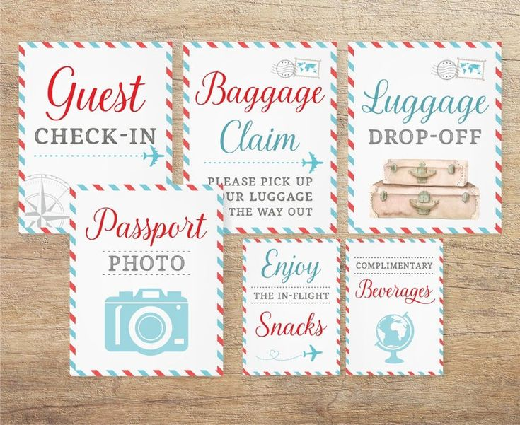Airplane Signs Travel Wedding Airline Themed Baby Shower | Etsy