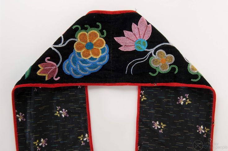 floral beadwork bandolier bags | ojibway floral beadwork | Bandolier Bag | In ho...