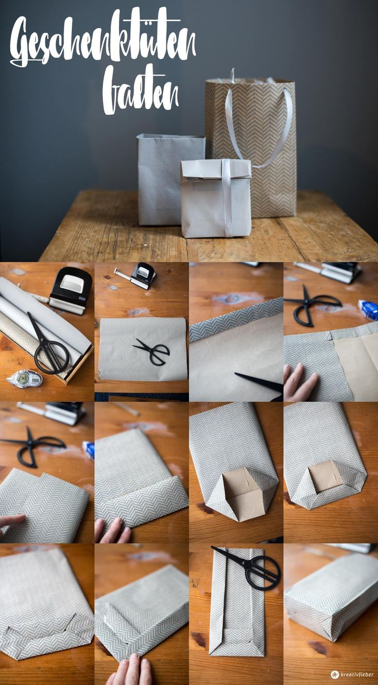 DIY gift bags fold step by step - simple gift wrapping in ...
