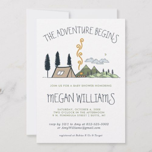 The Adventure Begins | Mountain Baby Shower