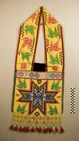 Loom beaded bandolier bag. Collected on the Lac du Flambeau Ojibwe reservation, ...