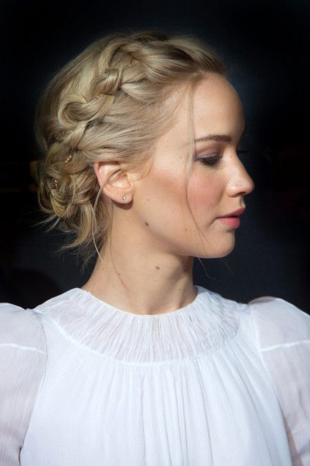 5 Celebrity Updos to Try this Hot, Hot Summer: #5. Jennifer Lawrence Beautiful B...