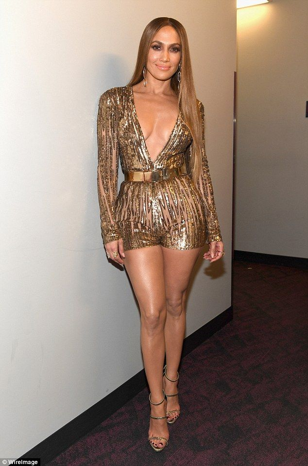 JENNIFER LOPEZ 2016 LATIN GRAMMYS Golden girl: The star certainly made sure to t...