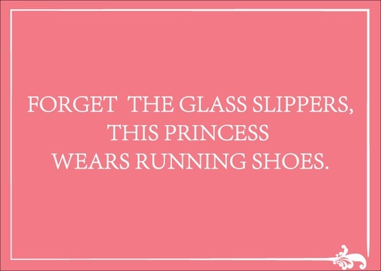 Forget the glass slippers - this princess wears running shoes