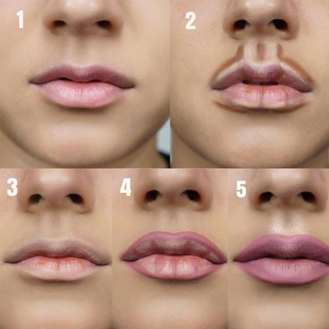 Step by step Lips Makeup #lipstutorial #lipscontouring ★ Every girl ...