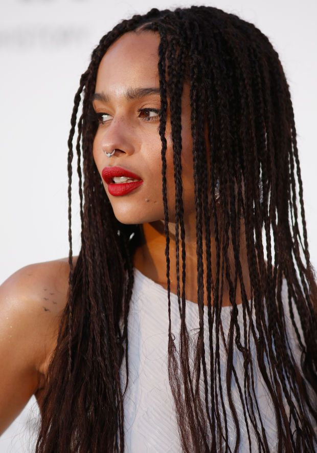 Zoë Kravitz at the 2015 Cannes amfAR Gala. beautyeditor.ca/...