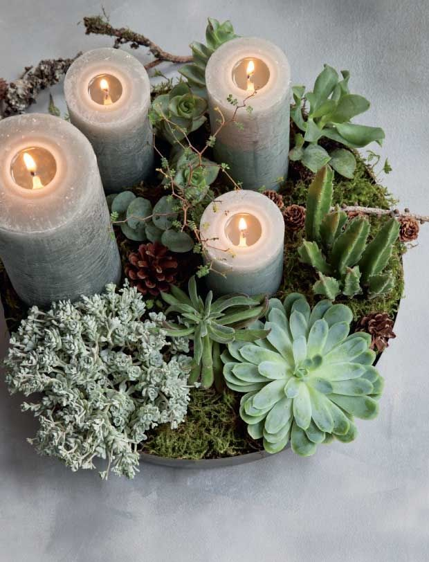 Is there anything nicer than a beautiful Advent wreath as a countdown to Christmas ...