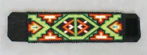 ... and Crafts, Ojibwe three dimensional beaded flower cuff bracelets