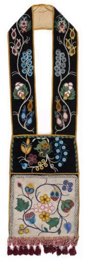 Ojibwe bandolier bags are large, heavily beaded pouches with a slit at the top. ...