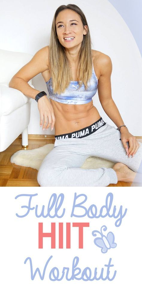 Full Body HIIT Home Workout - abdominal legs buttocks and upper body in a workout ...