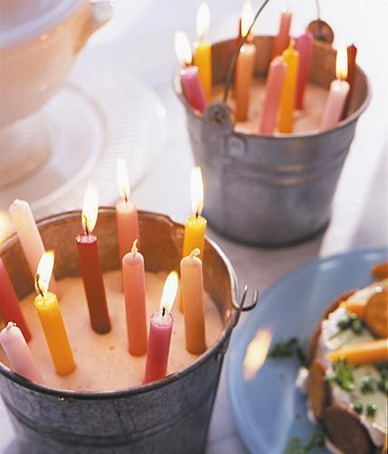 Summer and candles - Simple and so beautiful - Whether garden, terrace or balcony ...