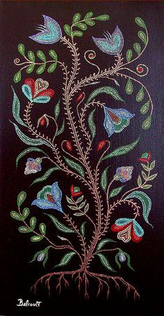 part by Christi Belcourt. BEADWORK STYLE ART
