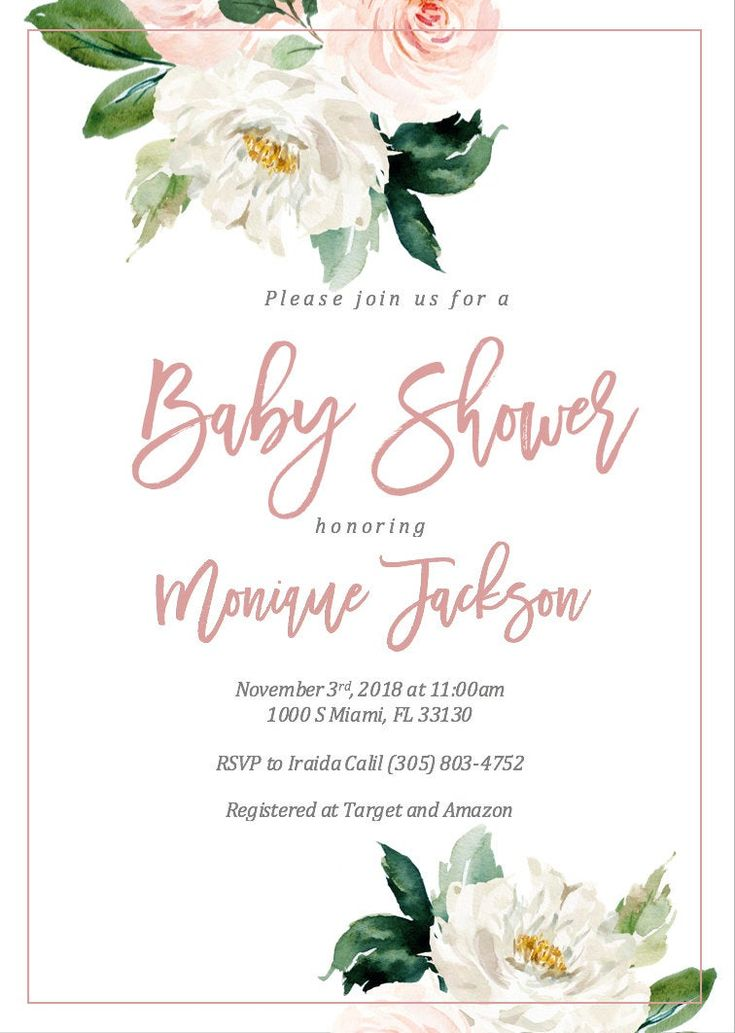 Girl Baby Shower Invitation Baby Shower Invitation Girl | Etsy