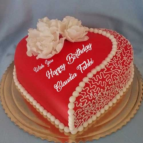 Beautiful Happy Birthday Cake Name Images, Romantic Birthday Cake With Name Phot...