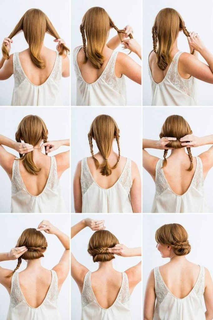 A simple and elegant updo made fast