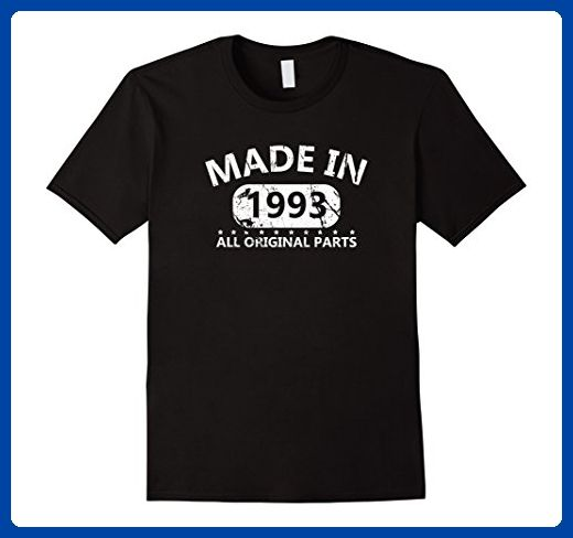 Mens 24th Birthday Made 1993 Vintage Funny T-shirt Gift Quote Tee Medium Black -...