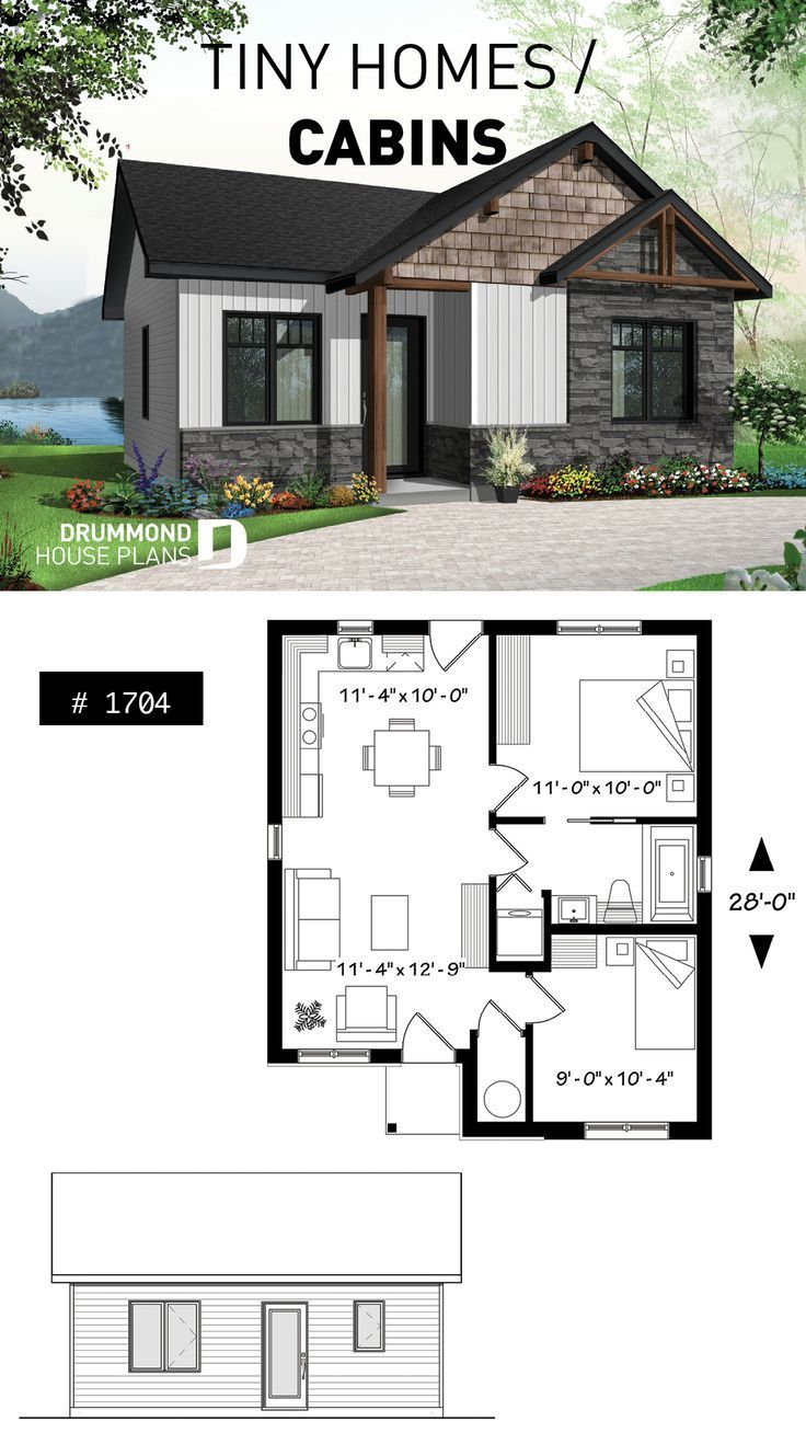 Modern house in country style, Scandinavian inspired, low construction costs, ide ...