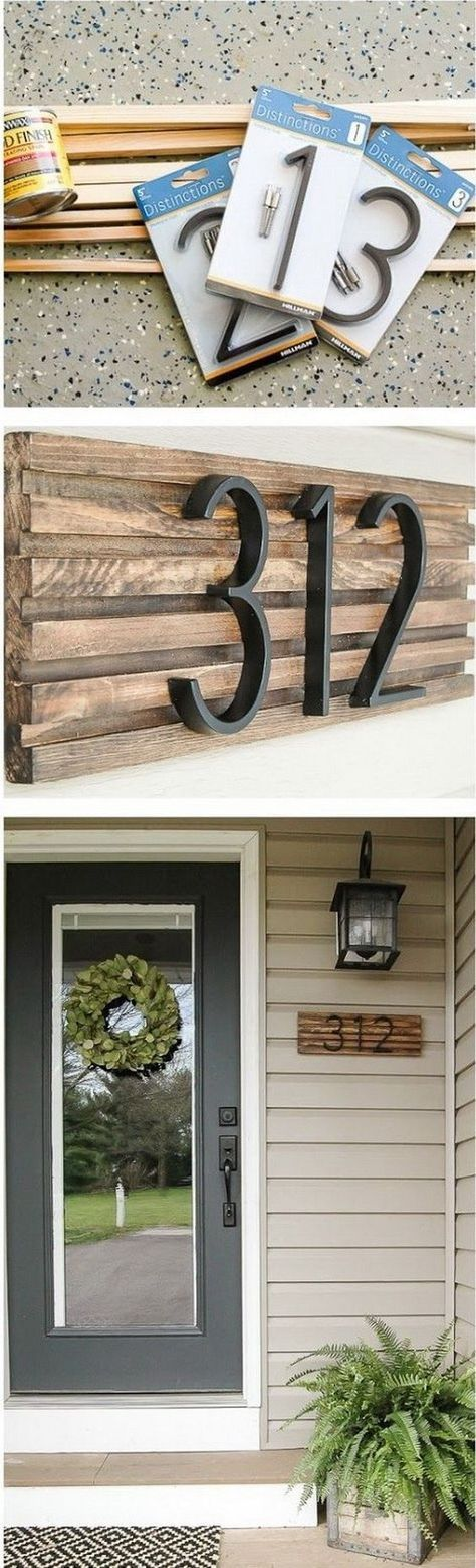 DIY Rustic House Number Sign. House numbers give your home a finished look while...