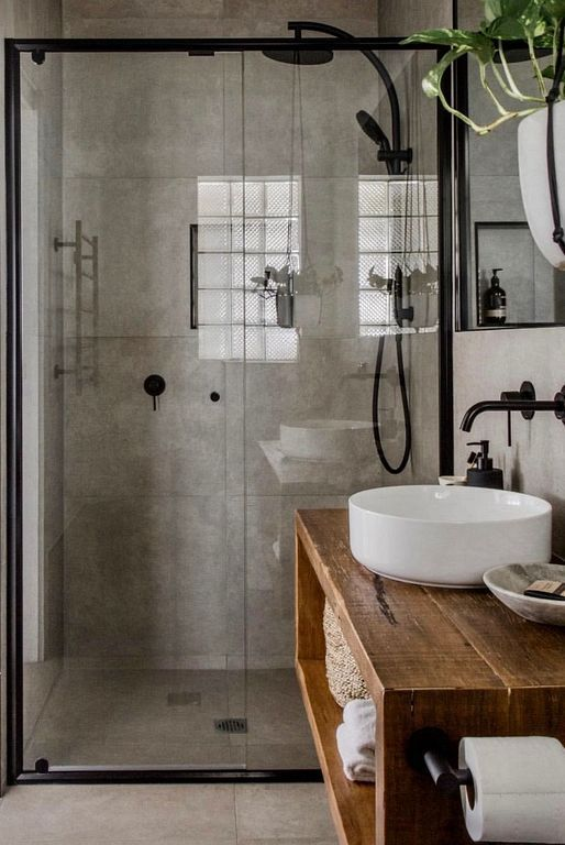 30+ Industrial Rustic Bathroom Design Ideas For Vintage Home - #Bathroom #Design...