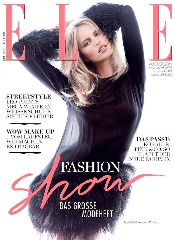 Karolina Kurkova for Elle Germany August 2014victoria secret, style, hot, karl l...