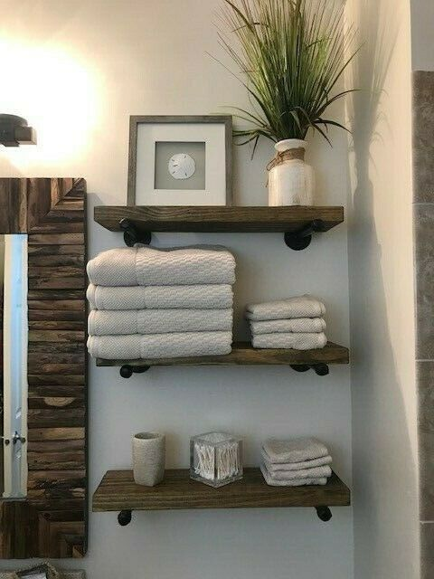 "8"" Deep Industrial Floating Shelf, Rustic Shelf, Pipe Shelf, Industrial - #Deep ..."