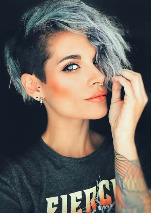 51 Edgy and Rad Short Undercut Hairstyles for Women #women #styles #short #u ...