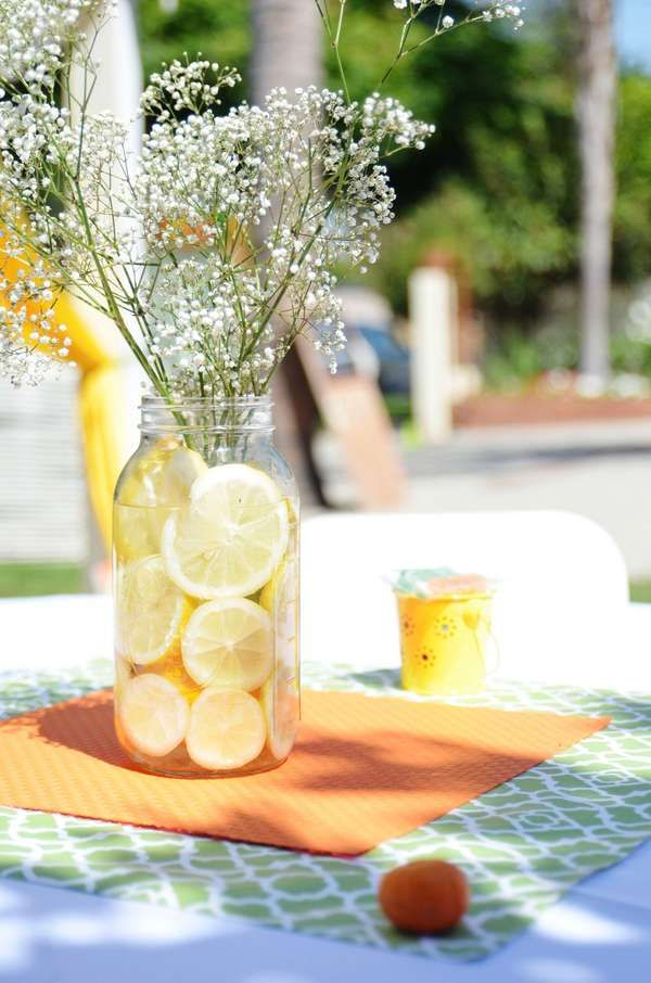 yellow orange and green Baby Shower Party Ideas | Photo 3 of 37 | Catch My Party
