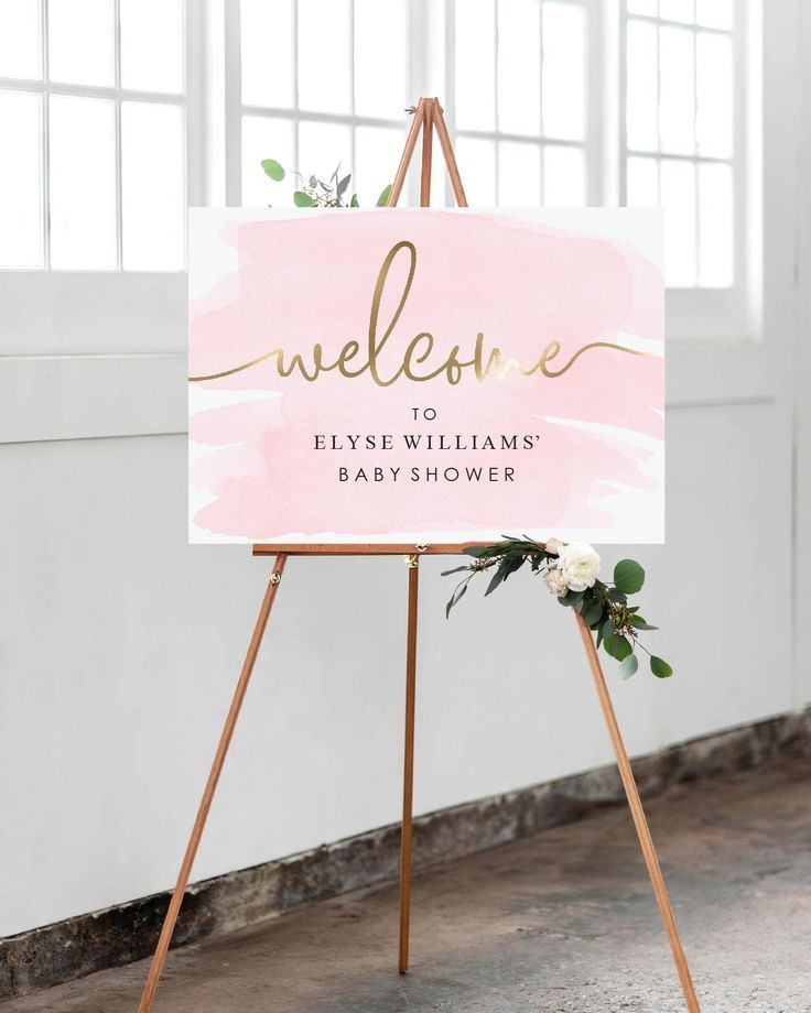 Pink and Gold Welcome Sign - Editable Printable Template