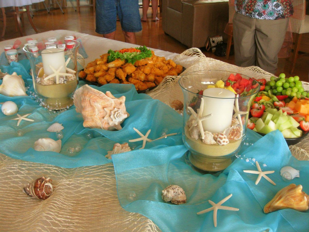 beach theme baby shower menu