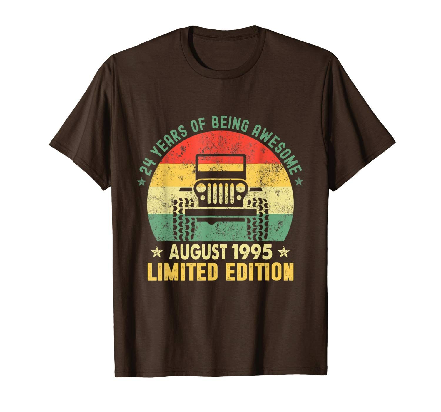 August 1995 Vintage Jeeps Limited Edition 24th Birthday T-Shirt